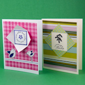 Window Cards featuring rubber stamps