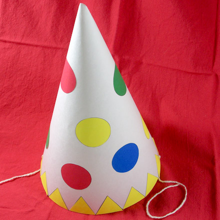 Clown Hat With Chin Ties