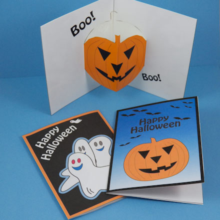 photo regarding Printable Halloween Card named Produce a Halloween Pop-Up Card - Halloween Crafts - Aunt