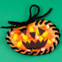 Sew-a-pumpkin Halloween party favor