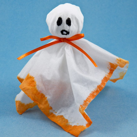 How To Make Colorful Tissue Ghosts Halloween Crafts