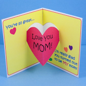 Mothers Day Card With Heart Pop Up