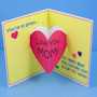 Mother's Day card with heart pop-up