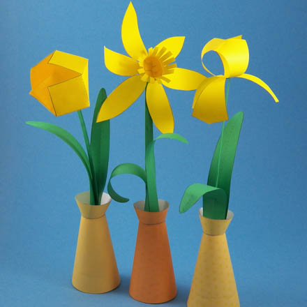 Make A Spring Paper Flower Bouquet Party Decoration Craft Projects