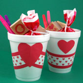 Paper cup party favors