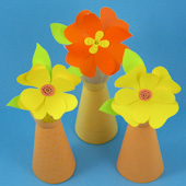 Plain Vase with paper flowers