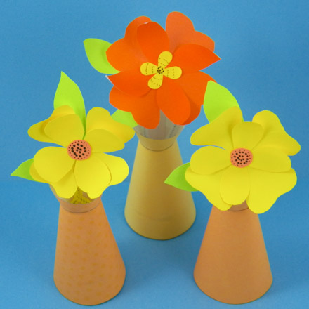 3d paper crafts aunt annies crafts plain vase with paper flowers mightylinksfo