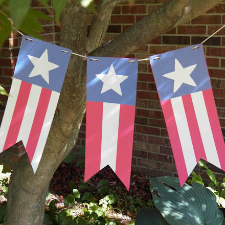 how to make stars and stripes pennant banner party decoration