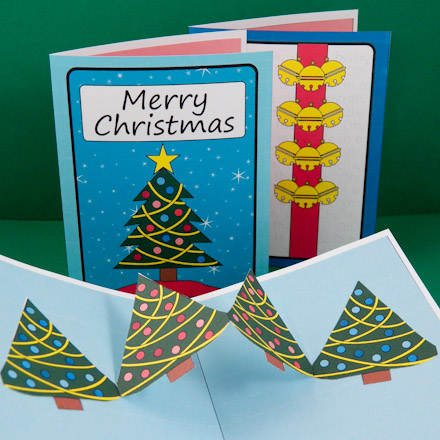 How to make christmas pop up cards pop up cards aunt annies crafts christmas cards with christmas tree pop up m4hsunfo