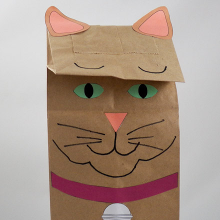 How to make a puppet using brown paper bag