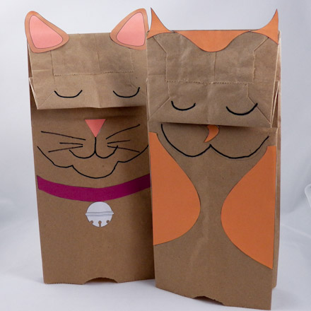 How To Make Paper Bag Puppets Puppets Around The World Aunt