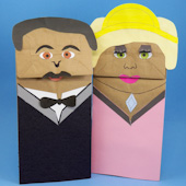 Tenor and diva hand puppets
