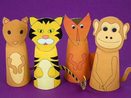 paper finger puppets templates - how to make paper cone finger puppets puppets around the
