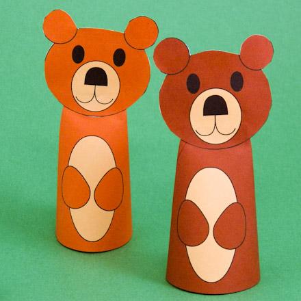 Bear Finger Puppets