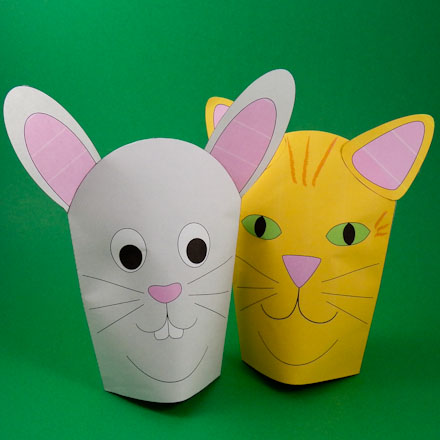 How To Make Simple Paper Hand Puppets Puppets Around The World