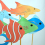 Sea life theme stick puppets