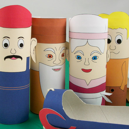 How to make toilet paper tube puppets puppets around the for Toilet roll puppets