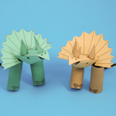 Triceratops finger puppets