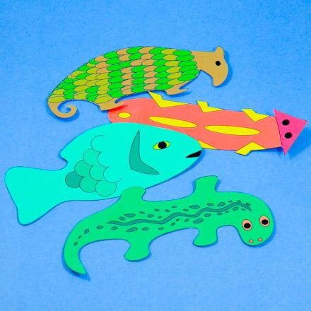 Four Cardstock Animal Bookmarks