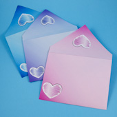Envelopes with hearts