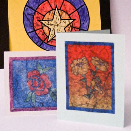 Examples Of Crayon Batiks Using Printed Images