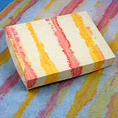 Box covered with painted tissue paper