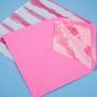Painted tissue paper envelope liner