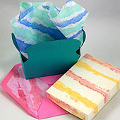 Uses for painted tissue paper