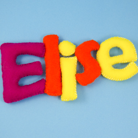 How To Make Stuffed Felt Names Needle And Thread Crafts