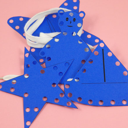 How To Make Sewing Cards Needle And Thread Crafts Aunt