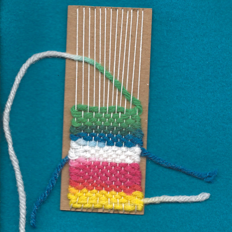 Make A Handwoven Bookmark Needle And Thread Crafts Aunt Annies
