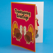 Thanskgiving Greetings pop-up card