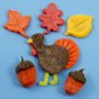 Fall and Thanksgiving magnets from modeling dough