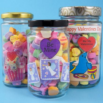How To Make A Valentine Candy Jar Valentine S Day Crafts Aunt Annie S Crafts