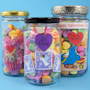 Valentine's Day candy jars