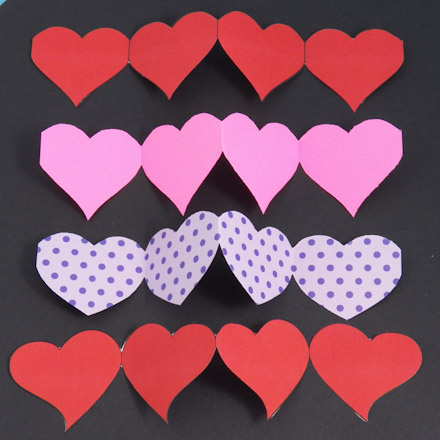 Make A Valentine Heart Chain Pop Up Card Valentine S Day Crafts