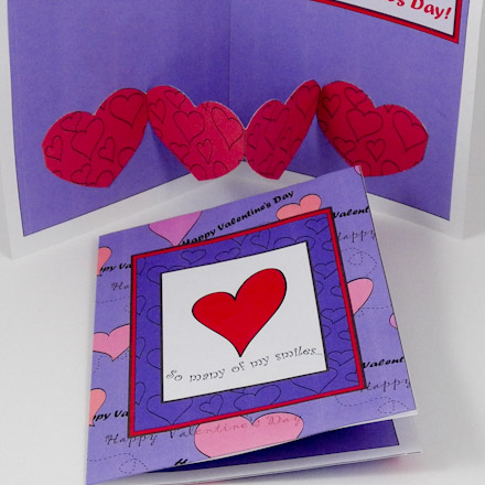 Make a Valentine Heart Chain PopUp Card Valentines Day Crafts – Valentines Pop Up Card