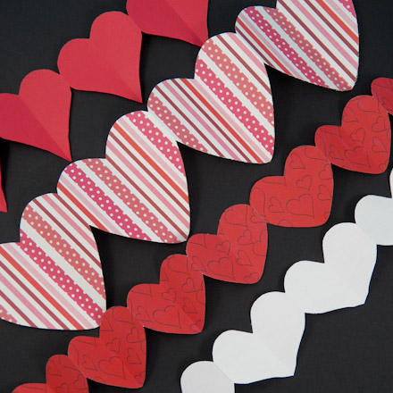 How To Make Paper Heart Chains Valentines Crafts Aunt Annie S Crafts