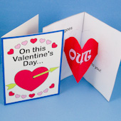 Valentine's Day card with heart pop-up