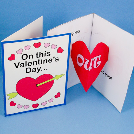 Valentine S Day Card With Heart Pop Up