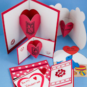 Add separate heart pop-ups to your handmade cards