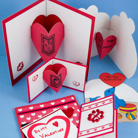 add separate heart pop ups to your handmade cards