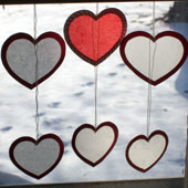 Related project: Valentine suncatchers