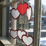 Heart-shaped Valentine Suncatchers
